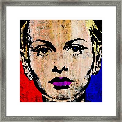 Twiggy 3 Framed Print by Otis Porritt