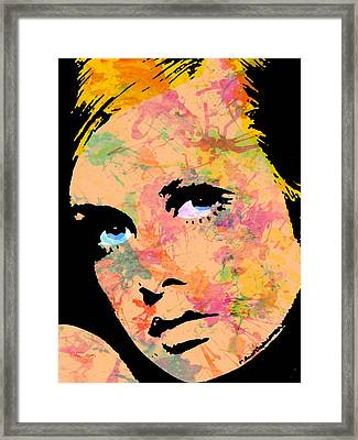 Twiggy-3 Three Framed Print by Otis Porritt