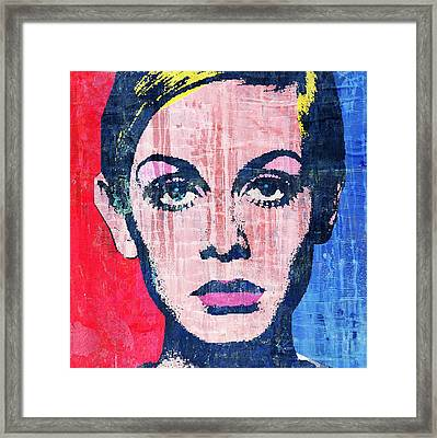 Twiggy 4 Framed Print by Otis Porritt