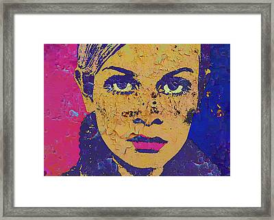 Twiggy 44 A Framed Print by Otis Porritt