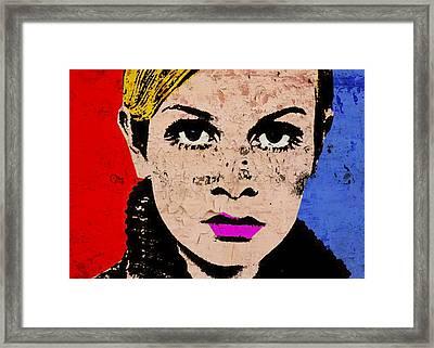 Twiggy 44 Framed Print