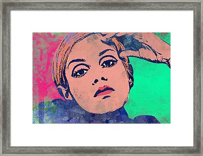 Twiggy 45 A Framed Print by Otis Porritt