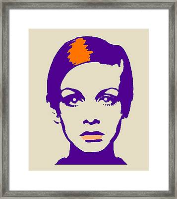 Twiggy 67 Framed Print by Otis Porritt