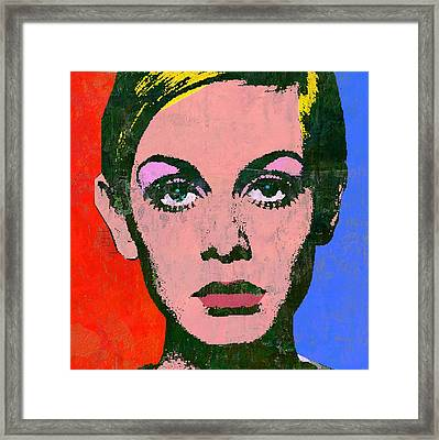 Twiggy Alt Framed Print by Otis Porritt