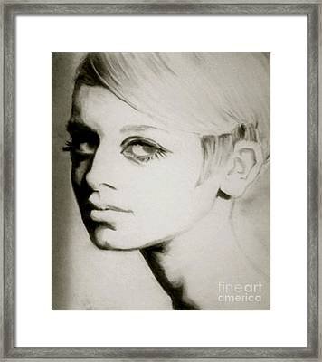 Twiggy  Framed Print by Amber Harvin