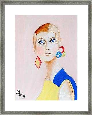 Twiggy Framed Print by Art by Danielle