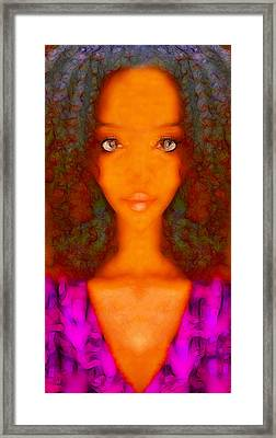 Twiggy Framed Print by Devalyn Marshall