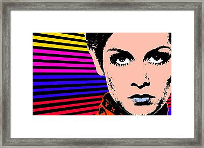 Twiggy-lines Framed Print by Otis Porritt