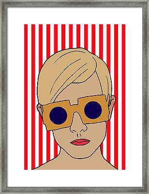 Twiggy Framed Print by Nicole Wilson