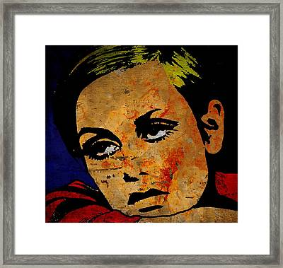 Twiggy Framed Print by Otis Porritt