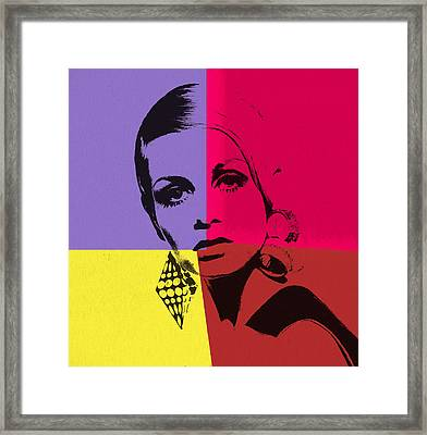 Twiggy Pop Art 1 Framed Print