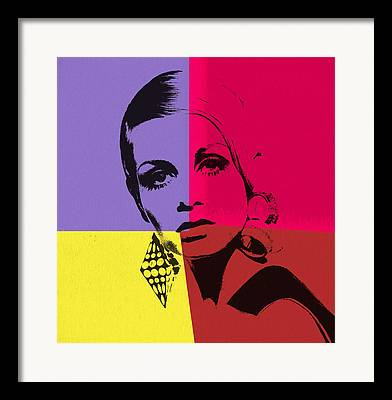 Twiggy Mixed Media Framed Prints