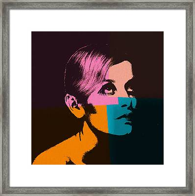 Twiggy Pop Art 2 Framed Print