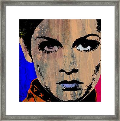 Twiggy Popped 1 Framed Print by Otis Porritt