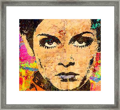 Twiggy Popped 2 Framed Print by Otis Porritt