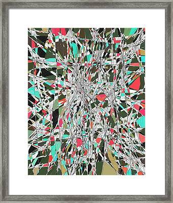 Twiggy Stained Glass 9-1-2015 #1 Framed Print