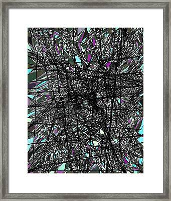 Twiggy Stained Glass 9-1-2015 #2 Framed Print