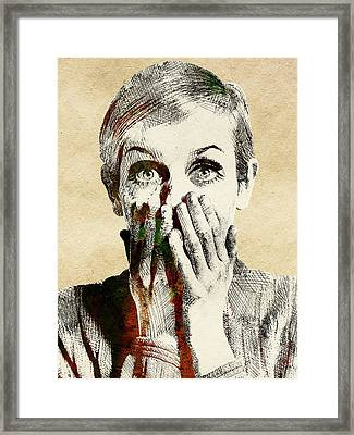 Twiggy Surprised Framed Print