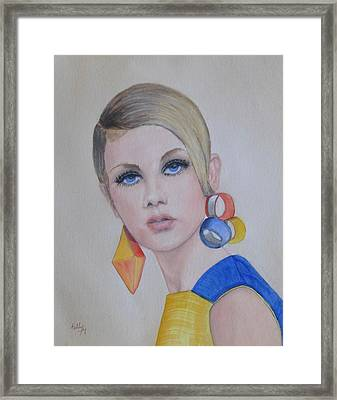 Twiggy The 60's Fashion Icon Framed Print