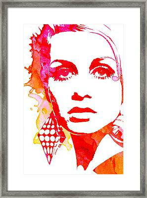 Twiggy Framed Print by Veronica Crockford