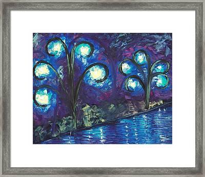 Twiglight Woods Framed Print by Jessilyn Park