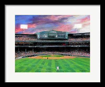 Boston Baseball Stadiums Framed Prints