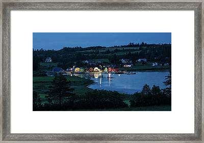 Framed Print featuring the photograph Twilight At French River Harbour, Pei by Rob Huntley