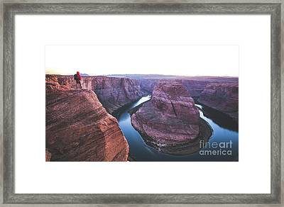 Twilight At Horseshoe Bend Framed Print by JR Photography