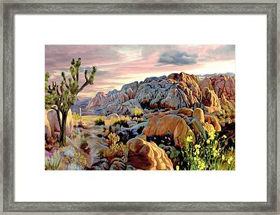 Twilight At Joshua Framed Print