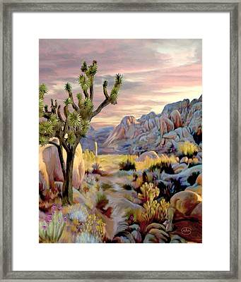 Twilight At Joshua   Vert. Framed Print