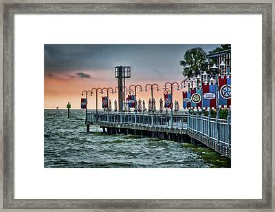 Twilight At Kemah Framed Print