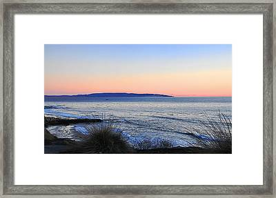 Twilight At Shell Beach Framed Print by Lorrie Morrison