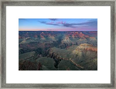 Twilight At South Rim Grand Canyon Framed Print