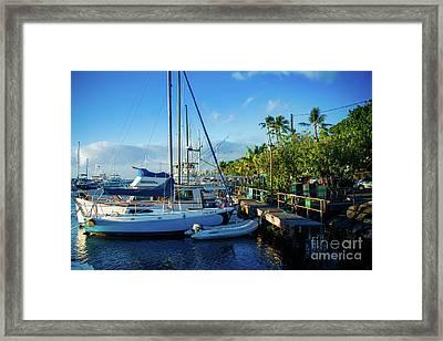 Twilight At The Marina Lahaina Harbour Maui Hawaii Framed Print