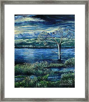 Twilight At The River Framed Print