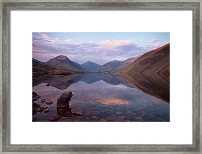 Twilight At Wastwater In Cumbria Framed Print by Pete Hemington