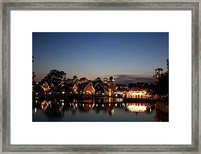 Twilight Framed Print by Barbara Teller