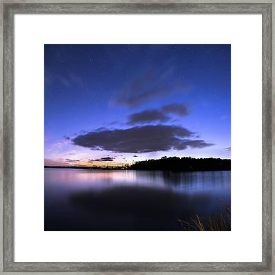 Twilight Beckons The Stars Framed Print by Steve Evans