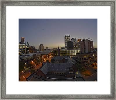 Twilight Birmingham Framed Print