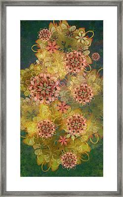 Twilight Blossom Bouquet Framed Print