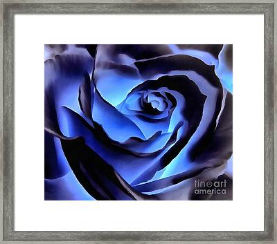 Twilight Blue Rose  Framed Print