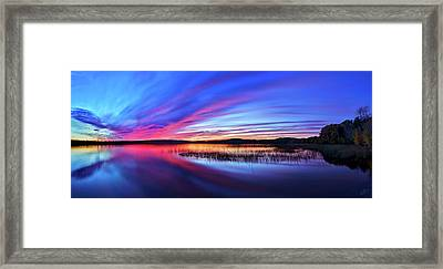 Twilight Burn Panorama Framed Print