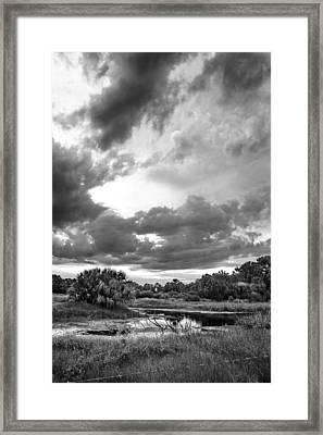 Twilight Bw Framed Print by Norman Johnson