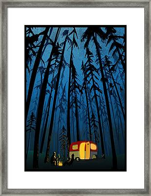 Twilight Camping Framed Print by Sassan Filsoof