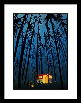 Camper Framed Prints