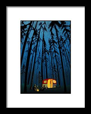 Camping Framed Prints