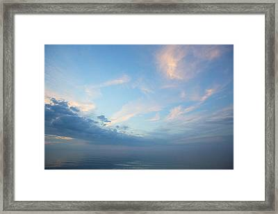 Framed Print featuring the photograph Twilight Clouds Over Lake Superior by Jane Melgaard