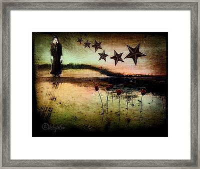 Framed Print featuring the digital art Twilight by Delight Worthyn