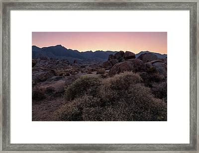 Framed Print featuring the photograph Twilight Descends by Stuart Gordon