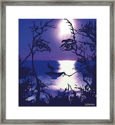Twilight Face Framed Print